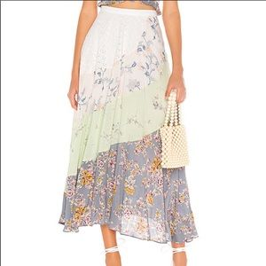 Free People | NEW In the Flowers Patchwork Skirt